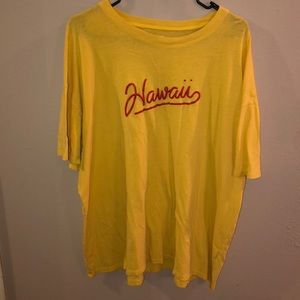 Over size yellow Hawaii T-shirt Hollister